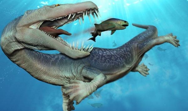 Nothosaurus merupakan hewan laut purba yang hidup selama periode Triassic lebih dari 200 juta tahun yang lalu. Sumber  :  listverse.wpengine.netdna-cdn.com
