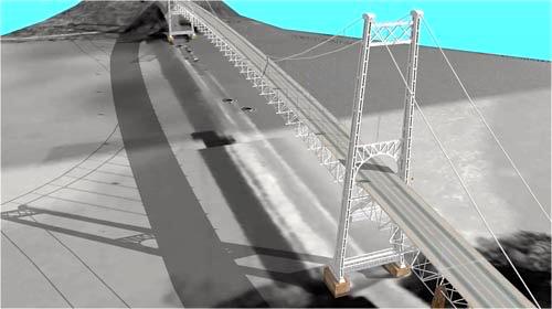 Desain Jembatan Pancasila NTT yang akan dibangun ini bakal dilengkapi turbin-turbin buat pembangkit listrik tenaga arus laut. Foto: Dinas PU NTT