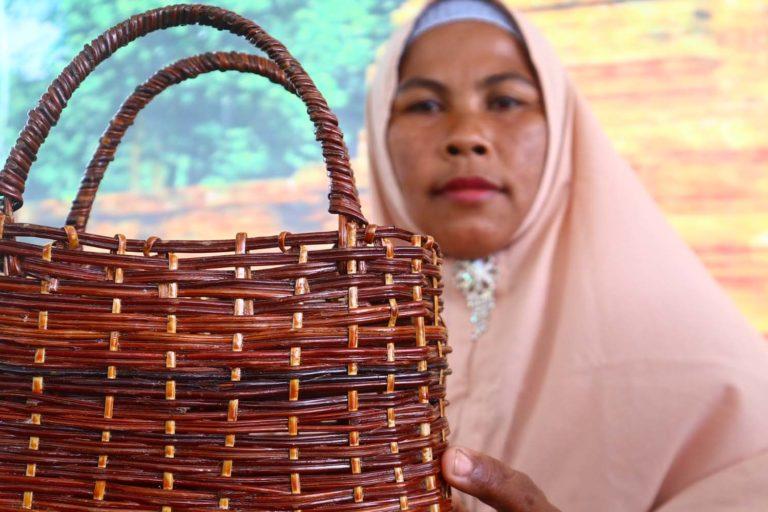 Rohana, Ketua Kelompok Perempuan Tani (KWT) Kunyit Serumpun, Desa Rantau Panjang, Kecamatan Batang Asai, Sarolangun. Foto: Yitno Suprapto/ Mongabay Indonesia